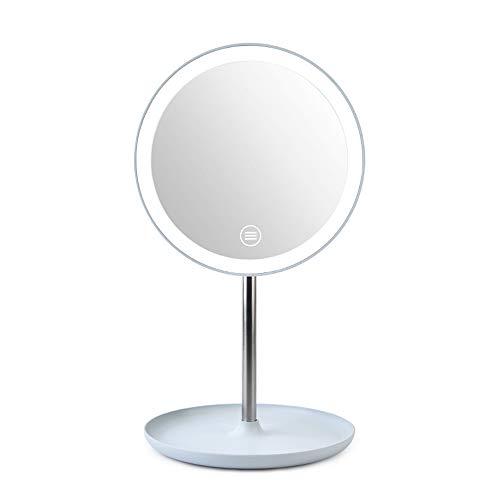 Benkeg Miroir de Maquillage À Led Miroir de Maquillage Fashion Lampe de Table À 360 ° Avec Rotation Miroir Cosmétique Réglable de Beauté - Miroir Cosmétique de Miroir de Maquillage de Lampe de Table D