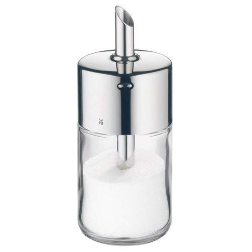 WMF Barista Zuckerstreuer, 240g, Glas, Cromargan Edelstahl, poliert, ideal für weißer/brauner Zucker, Kakao oder auch als Gewürzstreuer