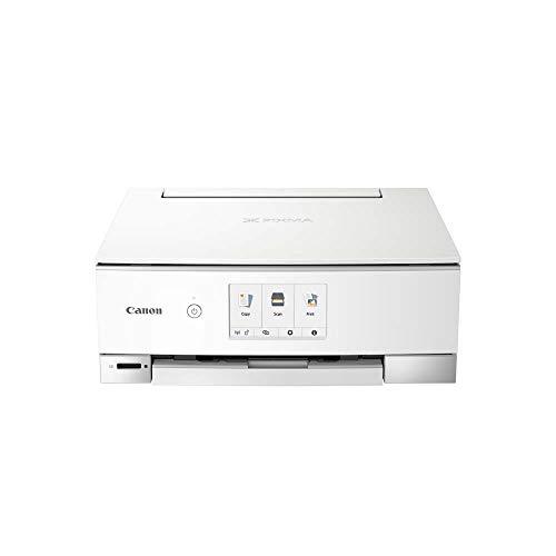 Impresora Multifuncional Canon PIXMA TS8351 Blanca Wifi de inyección de tinta