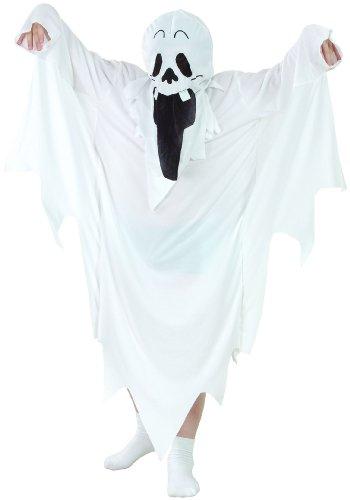 Generique - Déguisement fantôme Halloween Enfant L 10-12 Ans (130-140 cm)