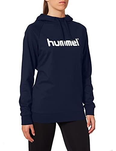 hummel Hmlgo - Sudadera con Capucha para Mujer (algodón), Mujer, Sudadera con Capucha, 203517-7026, Marine, Extra-Small