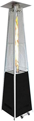 Calefacción de patio al aire libre Calefacción de patio piramidal Calefacción de jardín de gas independiente 13 kW Quemador de propano Manguera re