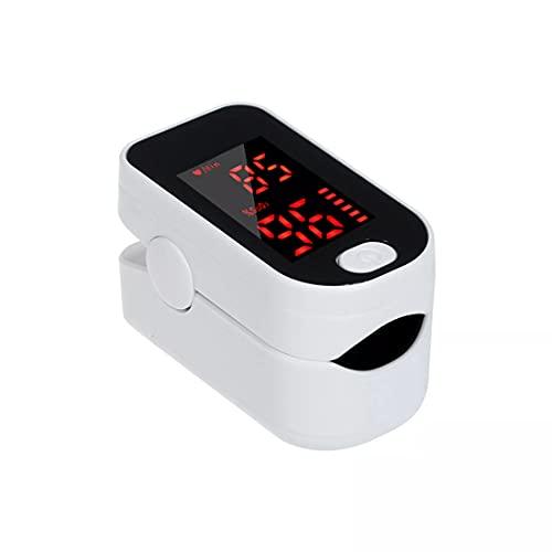 Monitor de saturación de oxígeno, pulsioxímetro de frecuencia cardíaca, dedo Sp02 Monitor de oxígeno en sangre Bajo consumo de energía Oxímetro portátil de alta precisión para niños adultos ⭐