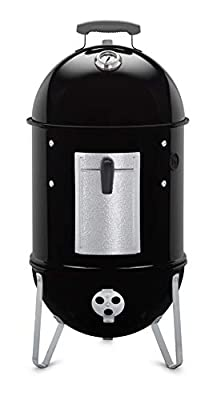 Weber Smokey Mountain Cooker Charcoal Smoker, Black