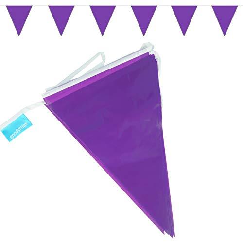 goodymax® Wimpelkette 10 m Violett / Lila - viele weitere Farben & Farbkombinationen zur Auswahl