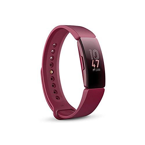 Fitbit Inspire, Tracker per Fitness e Benessere, Rosso Sangria