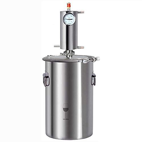 CARACHOME Home Distillery, 304 Edelstahl Alkohol Moonshine Distiller, 12 / 20L Home Brewing Kit Eingebautes Thermometer für DIY Whisky Wine Brandy,12L