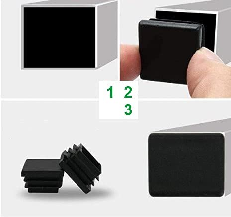 Tappi inserti in plastica per tubi tondi, quadri e rettangolari (5, 60x30 mm)