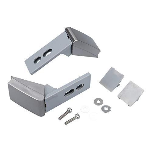 DL-pro Bisagra de la puerta Manija adecuada para Liebherr 9590178 9590190 Kit de reparación del refrigerador frigorífico plata