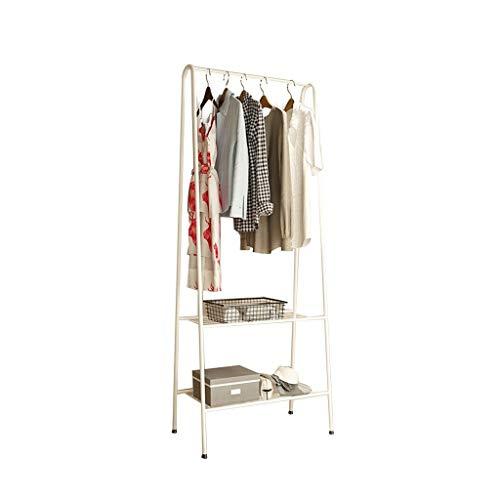 CSQ-Wall Coat Racks Simplicity Coat Racks, Metal Home Multifunction Clothes Rail Balcony Bathroom Clothes Rail Easy to Install Clothes Shelves (Color : White, Size : 15160CM)