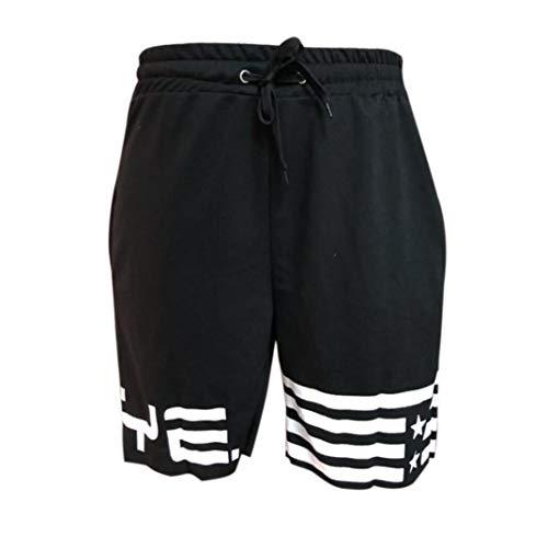 BOLAWOO-77 Pantalones Cortos para Ropa para Pantalones Hombres Hombres Bandera Mode De...