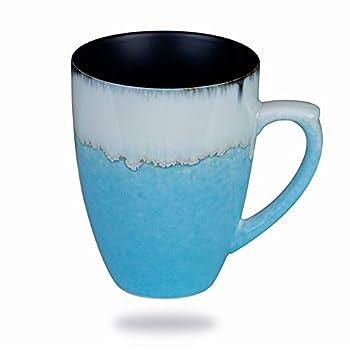 Handmade Pottery Coffee/Tea Mug Polish - 10 Ounce Rustic Stoneware Ceramic Cup Clay Art by Oojdzoo  N