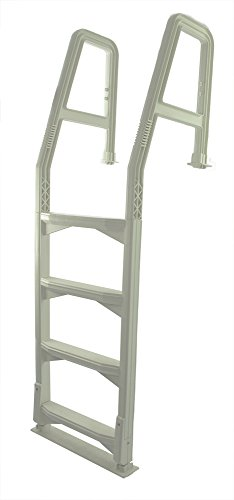 Aqua Select Heavy Duty Resin-Based Pool Deck Ladder for Above Ground Pool   Fits 48' - 54' Height Decks   Enter and Exit Your Above Ground Swimming Pool with Confidence