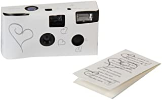 10 x Hearts Disposable Camera 27 Exposure Wedding Bridal Gift w/ Flash and Table Card