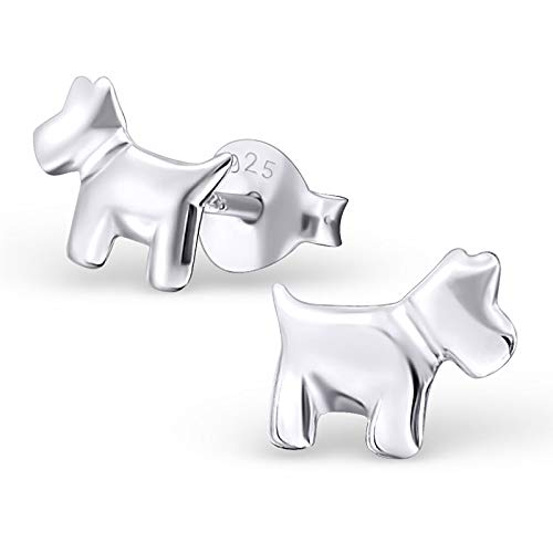 Monkimau Orecchini per bambina Orecchini per cani in argento sterling 925