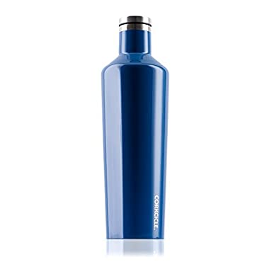 Corkcicle Canteen Classic Collection-Water Bottle & Thermos-Triple Insulated Shatterproof Stainless Steel, 25 oz, Gloss Riviera Blue