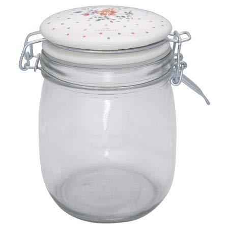 Greengate - Vorratsglas, Vorratsdose - Belle - Glas - white / weiß - 0,75 l