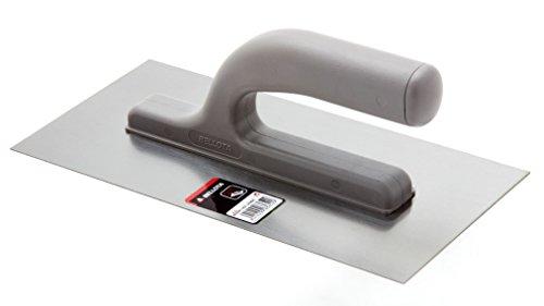 Bellota 25864 - Llana de acero para albañil y especial para yeso con mango abierto, 270x130mm