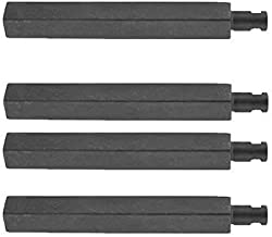 4 Pack Cast-Iron Grill Burner for CharBroil 463247404, Costco 720-0039-LP, Jenn-Air 720-0062, 720-0062-LP, Virco 720-0062, 720-0062-LP and Nexgrill 720-0039-LP, 720-0050 Gas Grill Models