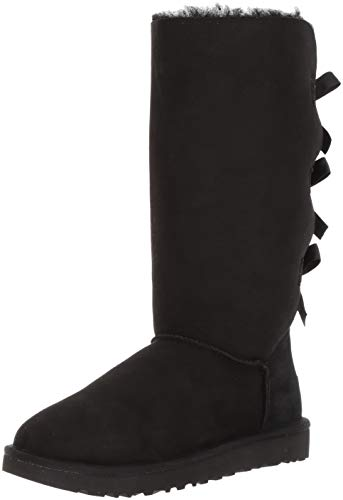 UGG Bailey Bow II Stivali per Le Donne 8 UK Nero