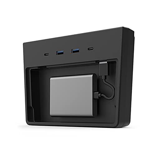 YCW Cables USB HUB 5/6 Puertos SSD Discos Palos Centro Consola Kit Memoria Caja de Almacenamiento Accesorios Ajuste para Tesla Modelo 3 Pad de Carga inalámbrica Automotor