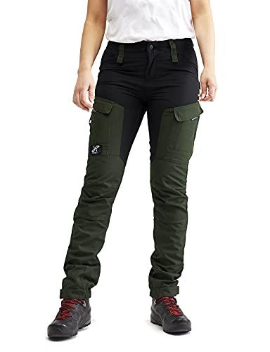 RevolutionRace Damen RVRC GP Pants, Hose zum Wandern und für viele Outdoor-Aktivitäten, Forest Green, 34