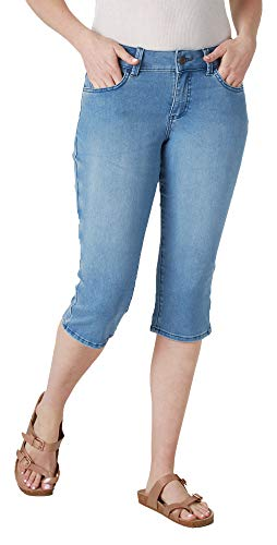 Riders by Lee Indigo Women's Ultra Soft Denim Capri, Sky, 12/Medium