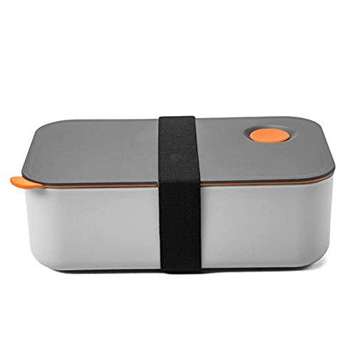 SKYEI Fiambrera de 1200 ml con 2 compartimentos flexibles, hermética, apta para microondas, lavavajillas, Dropshipping FAS (color naranja)