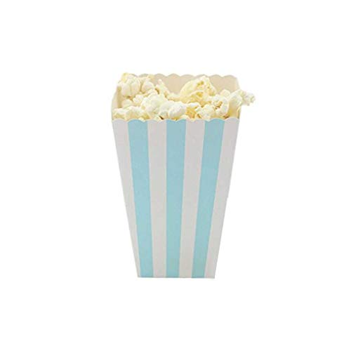 Demino 12 Stks/Set Popcorn Doos Snoep Sanck Favor Tassen Strepen Gift Tassen Bruiloft Party Favor Kids Movie Party benodigdheden