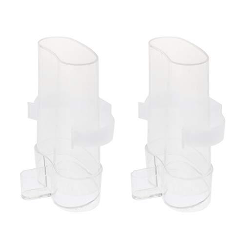 PETSOLA 2X Automatisch Futterspender Wasserspender für Vögelkäfig Voliere