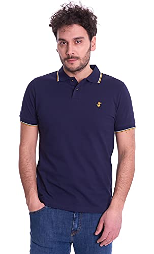 Save The Duck DR0136M-FATE12 90000 Navy Blue Polo Uomo L