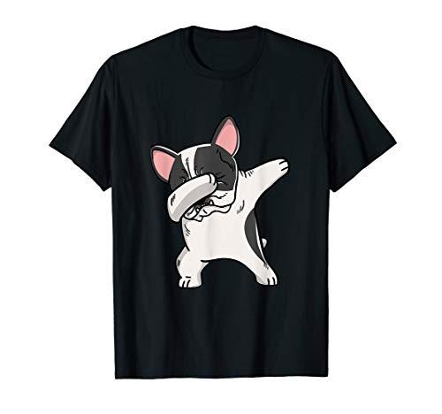 Funny Dabbing Pied French Bulldog Party Birthday Gift T-Shirt