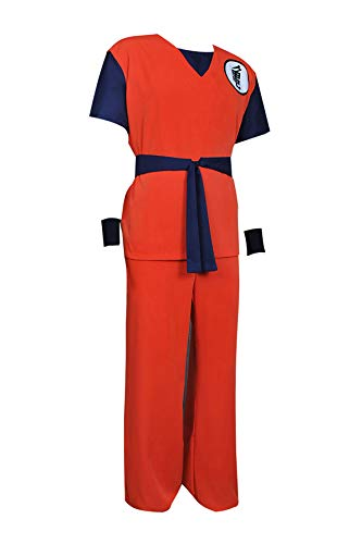 XOMO Dragon Ball Cosplay Goku Costume Red Full Set Suit Tailor Made