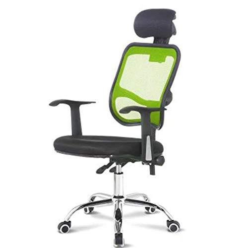 Wsaman Silla Escritorio, Silla Gaming Profesional con Ajustable Reposacabezas para Hogar Oficina Portátil Silla Escritorio Giratoria,Verde
