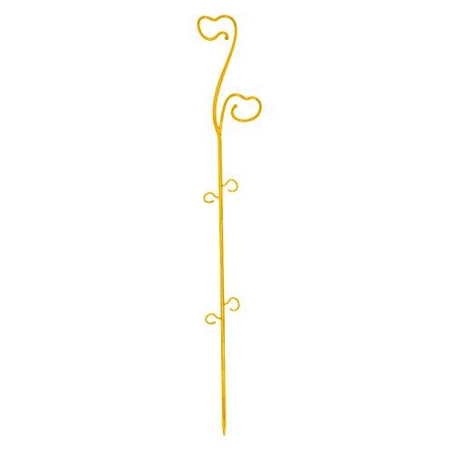 Bâtonnet décoratif 59 cm en plastique pour orchidées, jaune couleur