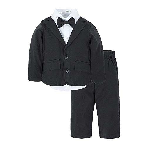 BIG ELEPHANT Baby Boys Tuxedo Suit Formal Party Set Wedding Outfit E16 Size 70 (3-6 Months)