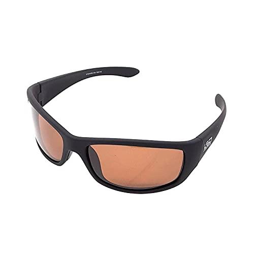 [L.S.D. Designs LSD 偏光 サングラス メンズ D.Flyman Slim(D.フライマン スリム)] 釣り スポーツ ドライブ おしゃれ メガネ 紫外線 対策 UV カット 率 99.9% (ラバーブラック, ダークブラウン)