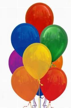 Riesenballons bunt gemischt, ca. 155 Umfang/ ca. 50 cm Durchmesser, 10 St.