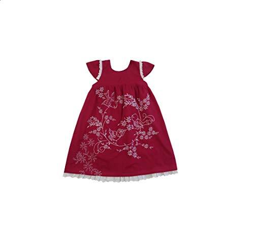 Powell Craft Abito Fucsia Uccellini Bird Dress tg 4-5 Anni