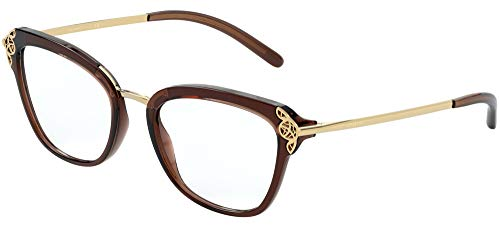 Dolce & Gabbana FILIGREE & PEARLS DG 5052 BROWN 52/19/140 Dames Brilmonturen