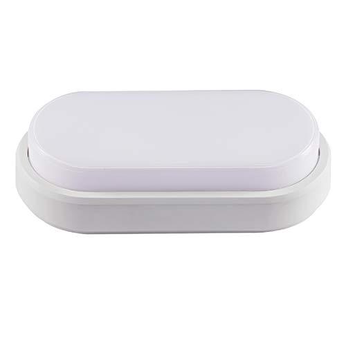 proventa® Aplique luz LED ovalado exterior interior 10W 850 lm IP54. Luz blanca neutra 4.000K. Resistencia a los impactos IK08. Color blanco. Clase energética A+ 🔥