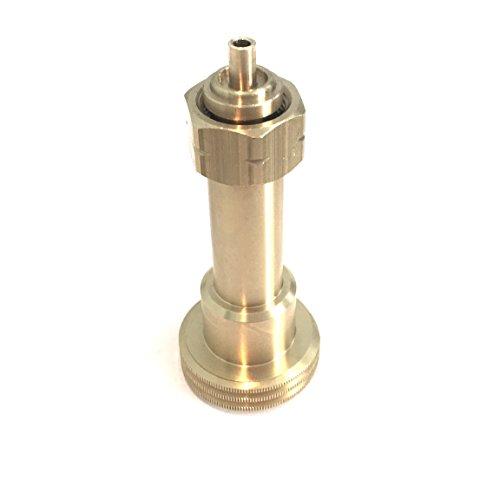 Drehmeister Acme Tankadapter mit integriertem Nippel zum Befüllen von Gasflaschen (11kg, 33kg) mit W21.8 L Gewinde (KLF) (KLF)