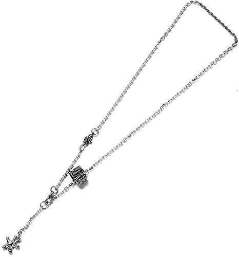 Collar Eagle Starfish Cross Collar con colgante de acero de titanio Collar con colgante de acero inoxidable Hombres y mujeres Moda DIY Accesorios para estudiantes Starfish-Starfish Gift for Women Men