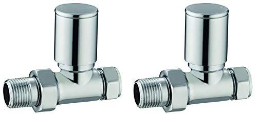 Keenware KRA-002 - Válvulas para radiador y calentador de toallas, color cromado
