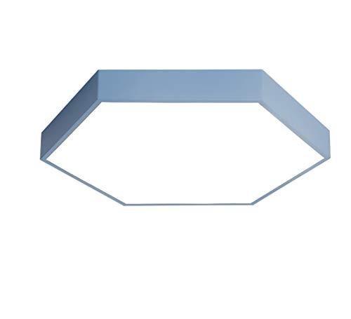 LED Deckenlampe, Deckenstrahler,Ultradünnes,Deckenleuchte-Panel, LED-Lampe, Wohnzimmer-Lampe,Schlafzimmer,Acryl Hexagon(Blau/Warmes Weiß)