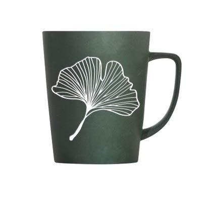 Cup Kreative Löwenzahn-Blätter Thema Milch Kaffee Keramik Becher mit Deckel und Löffel Pure Color Tassen Cup Küche ToolGift ERSHIWU (Capacity : 350ML, Color : B)