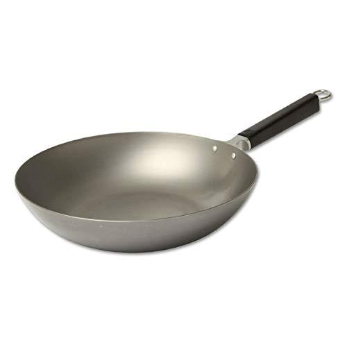 Joyce Chen 22-0050 Pro Chef Poêle à pêche en acier au carbone non revêtu 30,5 cm