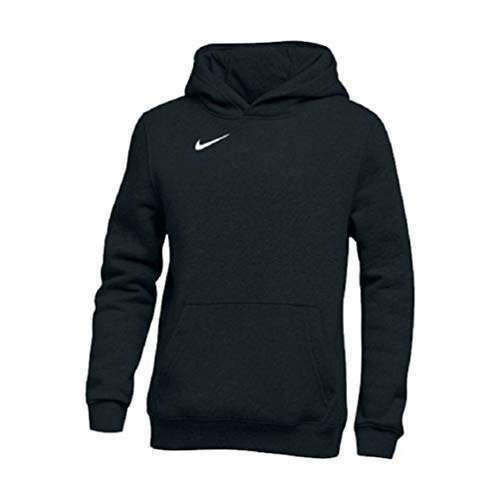 Nike Club Youth Boy's Fleece Hooded Sweatshirt Hoodie, Black, Youth Large