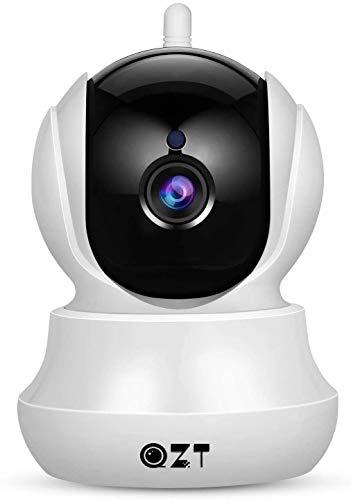 Cámara IP, Cámara de Vigilancia QZT 1080P WiFi con Visión Nocturna, Audio...