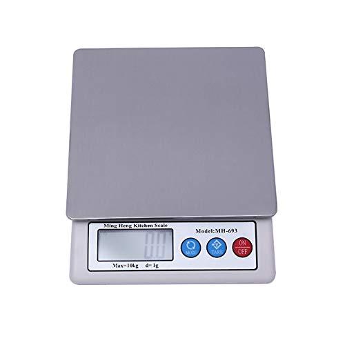 LJP Báscula Digital Cocina, Electrónico Aparato de Casa y Pesar la Comida Análisis Nutricional Escala para Preciso 0.1g Multifuncional (Capacity : 10KG/1G)
